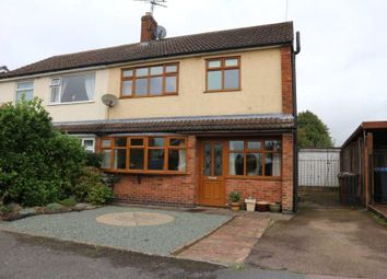 Thumbnail 3 bed semi-detached house for sale in Lord Crewe Close, Newbold Verdon, Leicester, Leicestershire