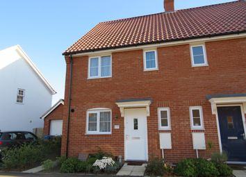 Thumbnail 3 bed end terrace house for sale in Gilbert Road, Stanton, Bury St. Edmunds