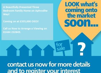 Thumbnail 3 bed end terrace house for sale in Aphrodite Way, Burgess Hill