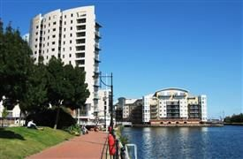 Thumbnail 1 bed flat to rent in Altair, Celestia, Falcon Drive, Cardiff Bay