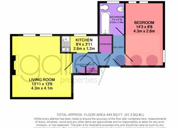 Thumbnail 1 bed flat to rent in High Road, Balby, Doncaster
