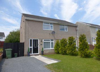 Thumbnail 2 bed semi-detached house for sale in Cynan Close, Beddau, Pontypridd