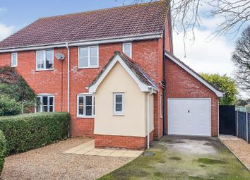 Thumbnail 3 bed semi-detached house for sale in Shickle Place, Hopton, Diss