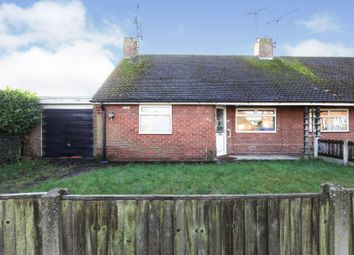 Thumbnail 2 bed semi-detached bungalow for sale in Buckingham Rise, Worksop
