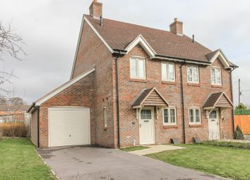 Thumbnail 2 bed semi-detached house for sale in Over Wallop, Stockbridge, Hampshire