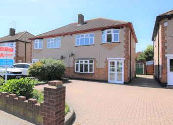 Thumbnail 3 bed semi-detached house to rent in Pettits Lane North, Romford