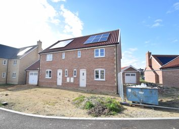Thumbnail 3 bed semi-detached house for sale in Lopham Road, East Harling, Norwich
