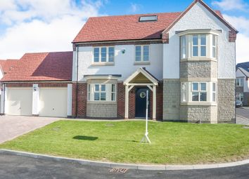 Thumbnail 4 bed detached house for sale in Spencer Close, Glenfield, Leicester