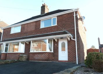 Thumbnail 2 bed semi-detached house to rent in Geoffrey Avenue, Leek, Staffordshire