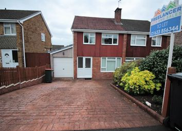 Thumbnail 3 bed semi-detached house to rent in Larch Grove, Malpas, Newport