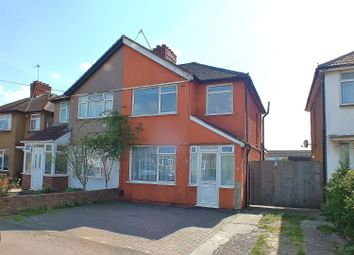 Thumbnail 3 bed semi-detached house for sale in Crowland Avenue, Hayes, Middlesex