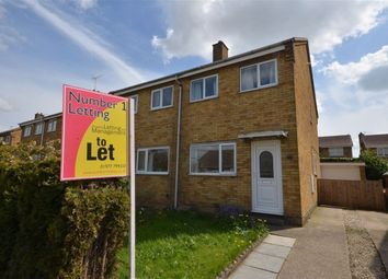 Thumbnail 2 bed semi-detached house to rent in Beechfield Close, Thorpe Willoughby, Selby