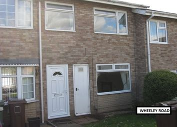 Thumbnail 3 bed terraced house to rent in Wheeley Road, Solihull