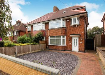 Thumbnail 3 bed semi-detached house for sale in Hillsway, Littleover, Derby