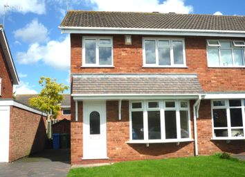 Thumbnail 3 bed semi-detached house to rent in Francis Close, Penkridge