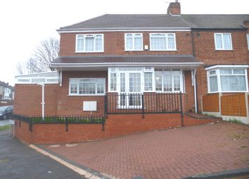 Thumbnail 5 bedroom end terrace house for sale in Dyas Avenue, Great Barr, Birmingham