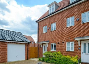 Thumbnail 3 bed end terrace house for sale in Avocet Rise, Sprowston, Norwich, Norfolk