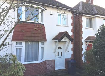 Thumbnail 3 bedroom property to rent in Woodleigh Avenue, Harborne, Birmingham