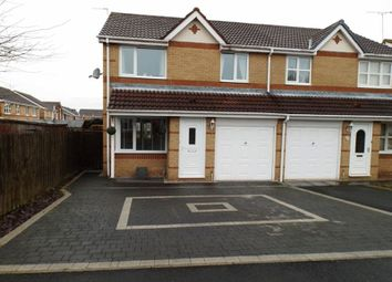 Thumbnail 3 bed semi-detached house for sale in Overdale Court, Choppington