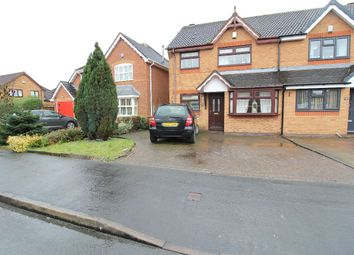 Thumbnail 3 bed semi-detached house for sale in Cornflower Road, Clayhanger, Walsall