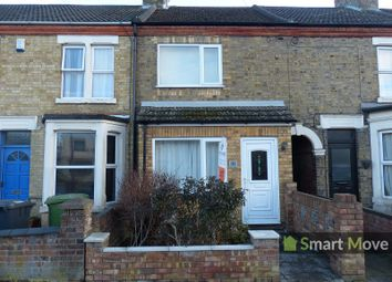 Thumbnail 3 bed terraced house for sale in Oundle Road, Peterborough, Cambridgeshire.