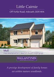 Thumbnail 4 bed detached house for sale in Plot 42, The Mull, Little Cairnie, Forfar Road, Arbroath