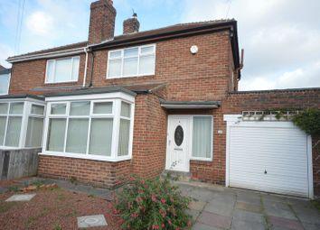 Thumbnail 2 bedroom semi-detached house for sale in Longridge Avenue, Cochrane Park, Newcastle Upon Tyne