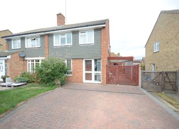 Thumbnail 3 bed semi-detached house to rent in Malvern Close, Woodley, Reading