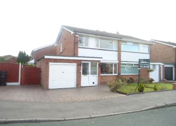 Thumbnail 3 bed semi-detached house to rent in Hollymount Gardens, Great Moor, Stockport