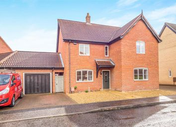 Thumbnail 4 bed link-detached house for sale in Mileham Drive, Aylsham, Norwich