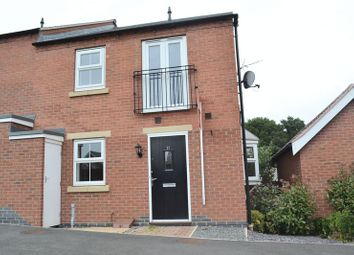Thumbnail 2 bedroom semi-detached house to rent in Easton Court, Church Gresley, Swadlincote