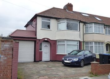 Thumbnail 3 bed end terrace house for sale in Woodstock Crescent, Edmonton, London