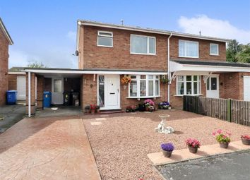 Thumbnail 3 bed semi-detached house for sale in Pillaton Close, Penkridge, Staffordshire
