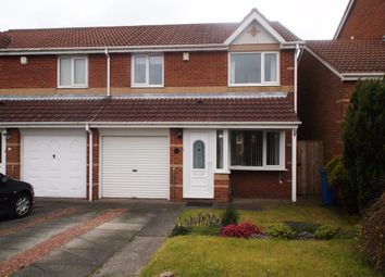Thumbnail 3 bedroom semi-detached house for sale in Lakemore, Peterlee