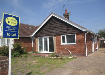 Thumbnail 2 bed detached bungalow to rent in Cherry Tree Close, Brinsley, Nottingham