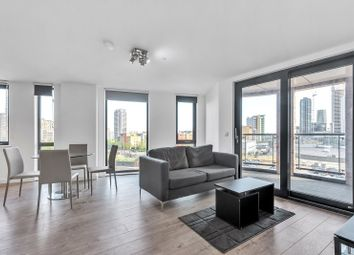 Thumbnail 1 bed flat for sale in Roosevelt Tower, 18 Williamsburg Plaza, London