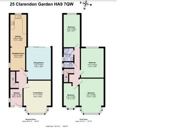 Thumbnail 5 bed semi-detached house to rent in Clarendon Gardens, Wembley