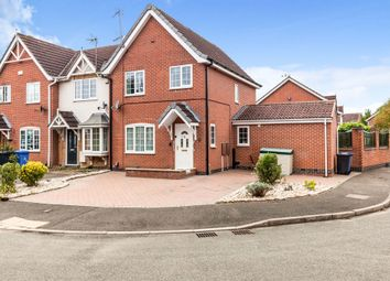 Thumbnail End terrace house for sale in Little Woodbury Drive, Littleover, Derby