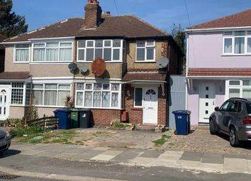 Thumbnail 3 bed end terrace house to rent in Wood End Gardens, Northolt