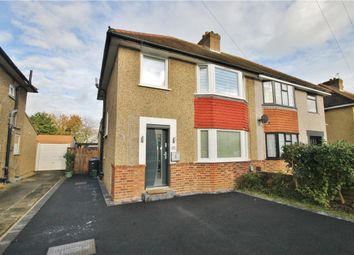 Thumbnail 3 bed semi-detached house for sale in Hythe Field Avenue, Egham, Surrey
