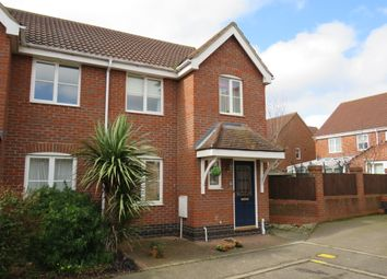 Thumbnail 3 bed semi-detached house for sale in Red Admiral Close, Wymondham