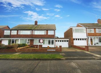 Thumbnail 3 bed semi-detached house to rent in Kingston Close, Whitley Bay, Tyne And Wear