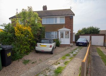 Thumbnail 3 bedroom semi-detached house for sale in Lesley Close, Bexhill-On-Sea