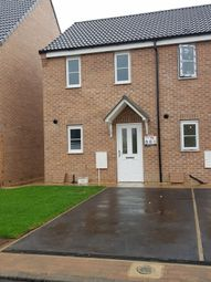 Thumbnail 2 bedroom end terrace house to rent in Turnstone Drive, Scunthorpe