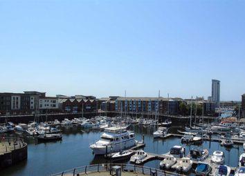 Thumbnail 2 bed flat for sale in Pocketts Wharf, Marina, Swansea