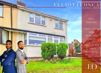 Thumbnail 3 bed semi-detached house for sale in Langley Avenue, Coseley, Bilston