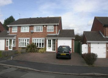 Thumbnail 3 bedroom semi-detached house to rent in Maisemore Close, Church Hill North, Worcestershire