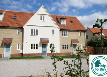 Thumbnail 3 bed terraced house for sale in School View, Caston, Attleborough