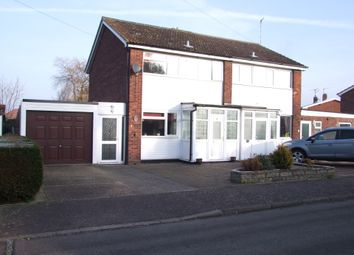 Thumbnail 3 bed semi-detached house for sale in Andrew Close, Leiston, Suffolk