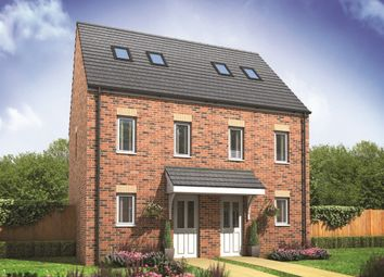 "Thumbnail 3 bed terraced house for sale in ""The Moseley"" at Derwen View, Brackla, Bridgend"
